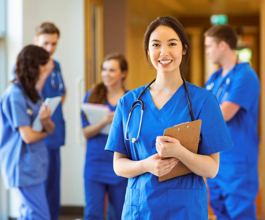 smiling asian nurse